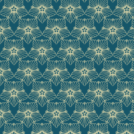 Pansy 5 blue fabric by kirpa on Spoonflower - custom fabric