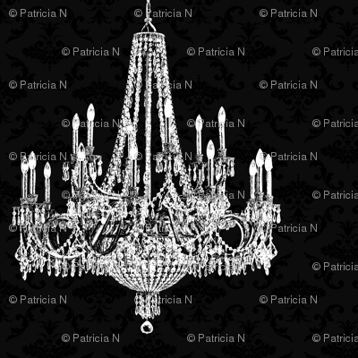 Black Damask Chandeliers