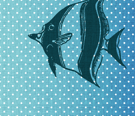 Polka Dot Fish fabric by peacefuldreams on Spoonflower - custom fabric