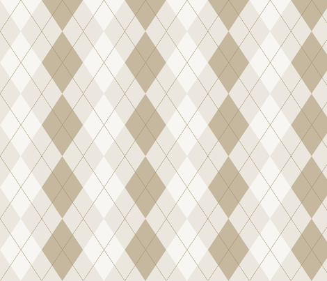 Brown Cocoa and Cream Argyle fabric by peacefuldreams on Spoonflower - custom fabric