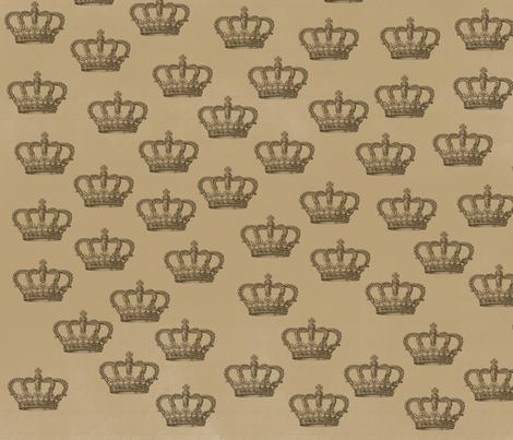 Vintage Crowns fabric by peacefuldreams on Spoonflower - custom fabric