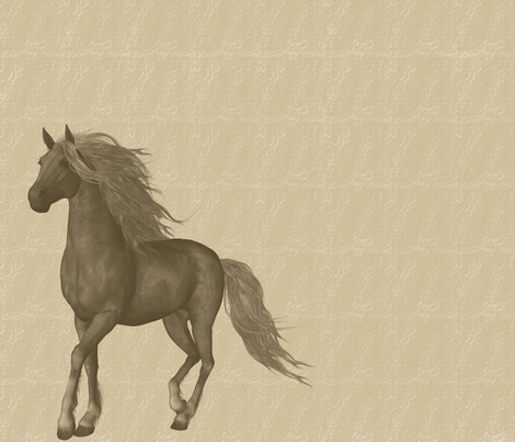 Brown Horses fabric by peacefuldreams on Spoonflower - custom fabric