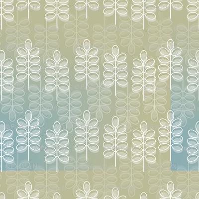 Modern White Leaves