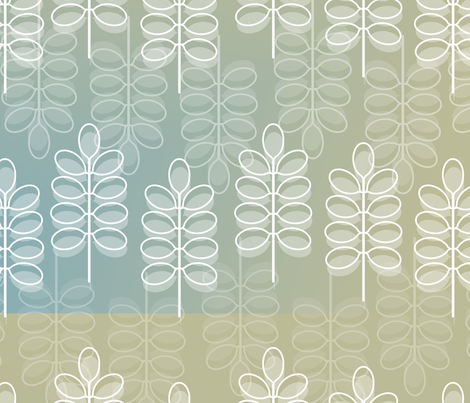 Modern White Leaves fabric by peacefuldreams on Spoonflower - custom fabric
