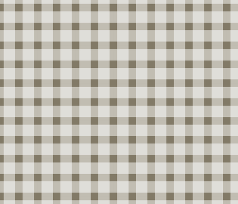 Brown and Cream Gingham fabric by peacefuldreams on Spoonflower - custom fabric