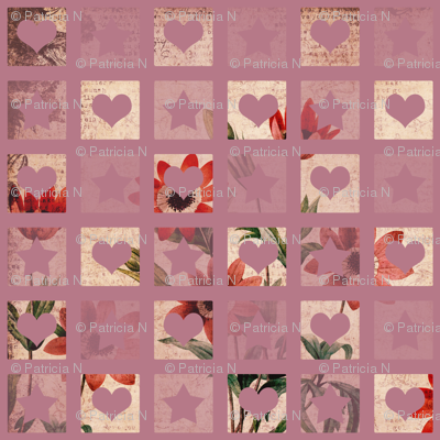 Hearts and Stars Floral