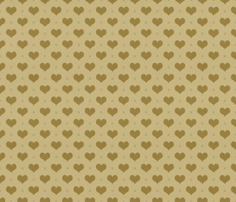 Gold Hearts fabric by peacefuldreams on Spoonflower - custom fabric