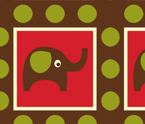 Cute Brown Elephants fabric by peacefuldreams on Spoonflower - custom fabric
