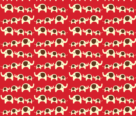 Cute Elephant Parade fabric by peacefuldreams on Spoonflower - custom fabric