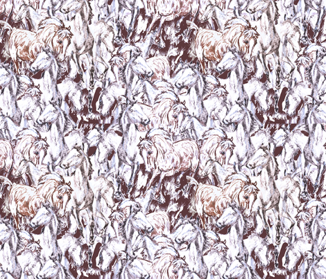 wild horses fabric by dogdaze_ on Spoonflower - custom fabric