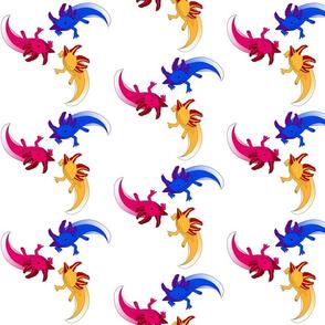 Axolotl-trio
