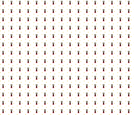 Alsacienne avec rose fabric by manureva on Spoonflower - custom fabric