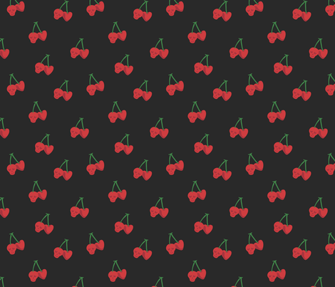 Sour Cherries fabric by edenki on Spoonflower - custom fabric
