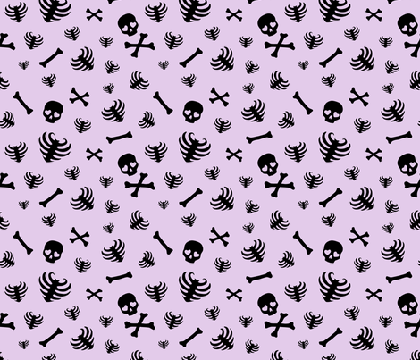 Bone Scatter - Lavender fabric by edenki on Spoonflower - custom fabric