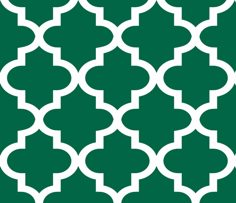 Quatrefoil Malachite fabric by honey&fitz on Spoonflower - custom fabric