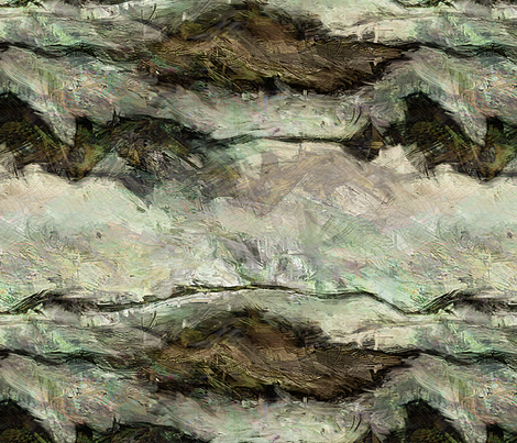 Painting - Whitewater fabric by wren_leyland on Spoonflower - custom fabric