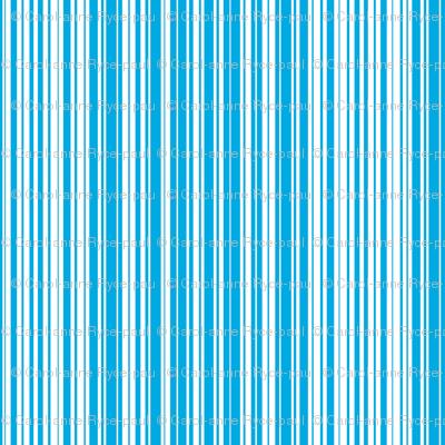 Mint Blue Candy Stripe
