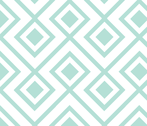 Connect the Blocks Minty fabric by honey&fitz on Spoonflower - custom fabric