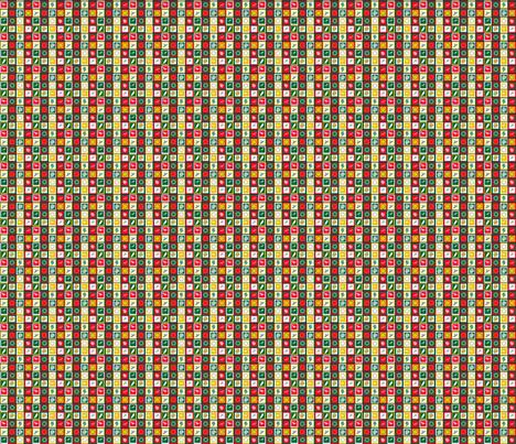 Base carrés de Noël 1 fabric by manureva on Spoonflower - custom fabric