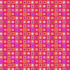 Carreaux décorations et fleurs