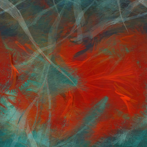 Abstract  Red and Teal
