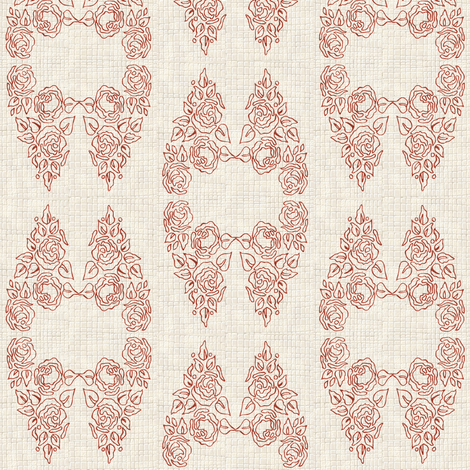 Rose_lace fabric by kirpa on Spoonflower - custom fabric
