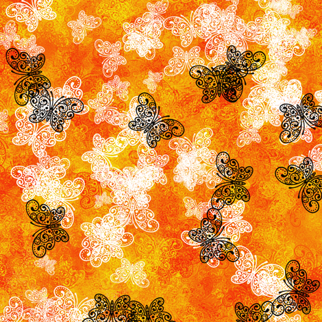 Butterfly Fire fabric by siya on Spoonflower - custom fabric