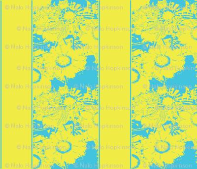 Daisy stripes, yellow & blue