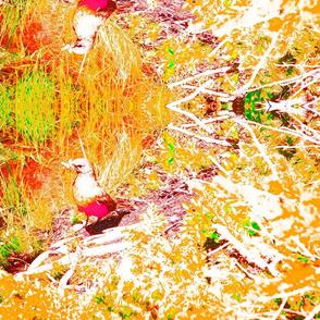 BIRD IN TREES vivid