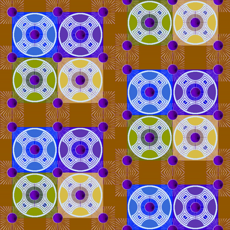 rising suns reversed fabric by y-knot_designs on Spoonflower - custom fabric