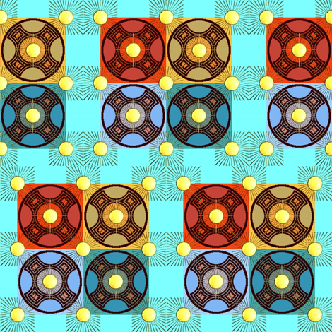 rising suns fabric by y-knot_designs on Spoonflower - custom fabric