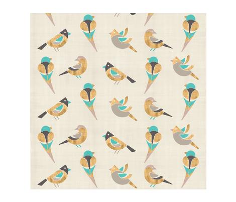 birdie-in-the-air fabric by firki on Spoonflower - custom fabric