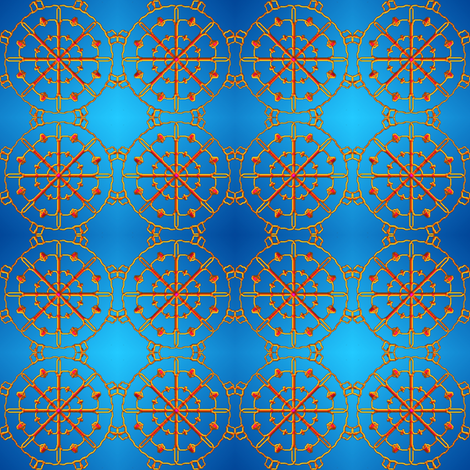 needles on a blue background fabric by y-knot_designs on Spoonflower - custom fabric