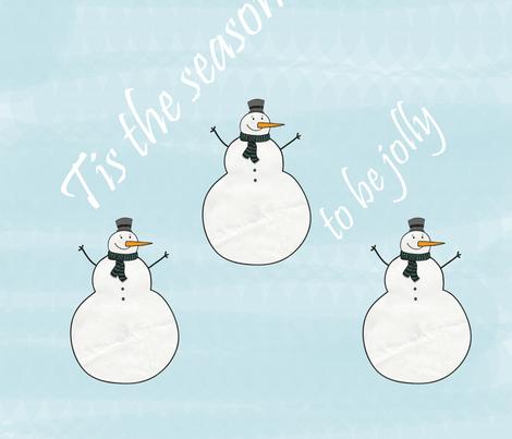 Jolly Snowmen fabric by peacefuldreams on Spoonflower - custom fabric