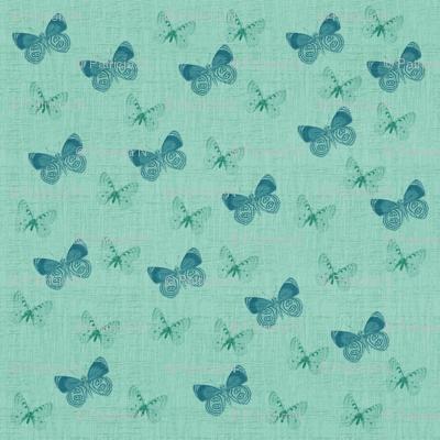 Textured Blue Butterflies