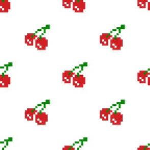 8 Bit Cherry - White