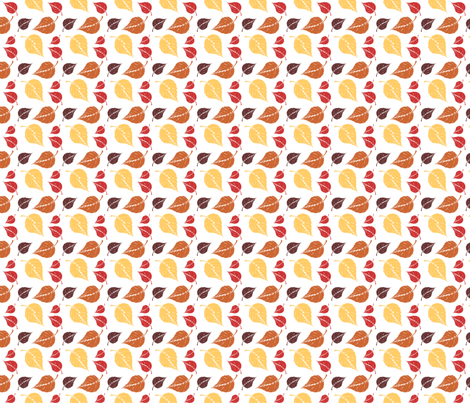 Golden Leaves fabric by peacefuldreams on Spoonflower - custom fabric