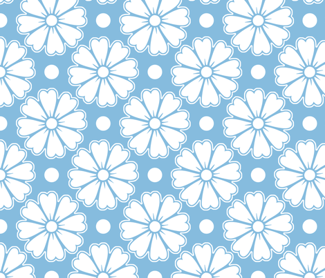 Whimsical White Flowers fabric by peacefuldreams on Spoonflower - custom fabric