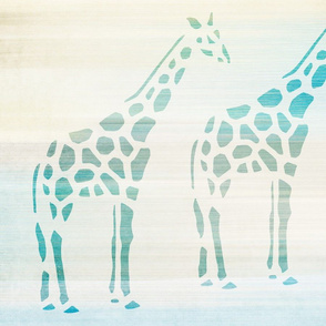 Aqua Giraffes