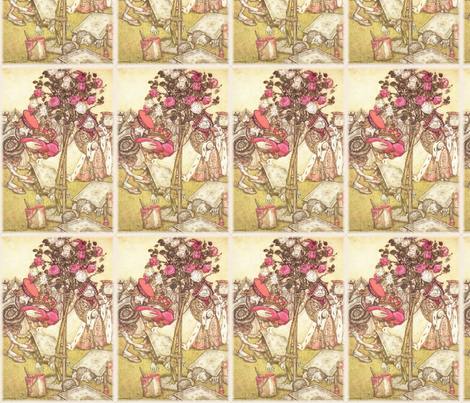 Painting the Roses Red fabric by peacefuldreams on Spoonflower - custom fabric