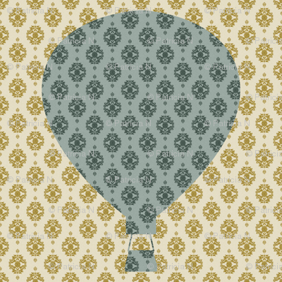 Damask Hot Air Balloon