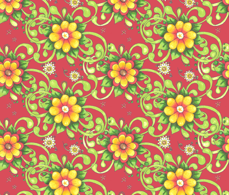shirley_red_back fabric by neetz on Spoonflower - custom fabric