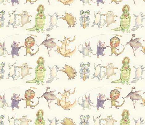 Aussie Animal Corroboree fabric by anna_ducos on Spoonflower - custom fabric