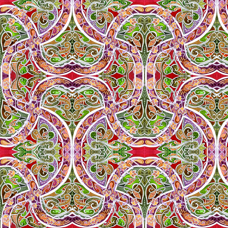 Our Romantic Paths Crossed at Paisley fabric by edsel2084 on Spoonflower - custom fabric