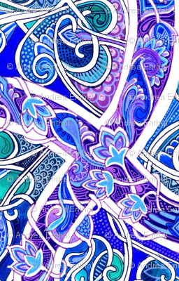 Vine Entwined Paths to Blue and Purple