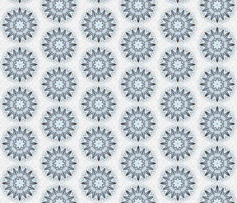 snowflake_9 fabric by peegee on Spoonflower - custom fabric