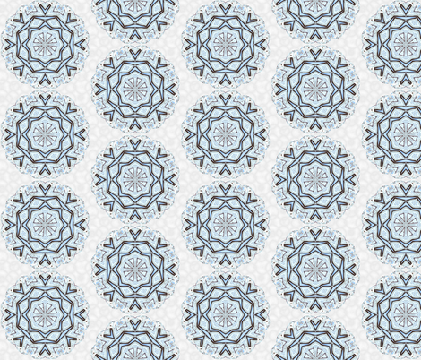 snowflake_12 fabric by peegee on Spoonflower - custom fabric