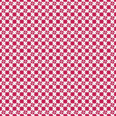 Little Bow White   -on Cherry Red fabric by fireflower on Spoonflower - custom fabric