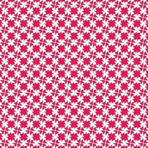 Little Bow White   -on Cherry Red