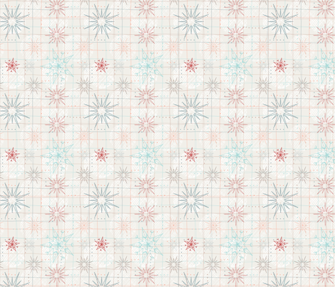 Paper Stars fabric by patternjots on Spoonflower - custom fabric